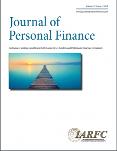 fall issue of the journal of personal finance now available